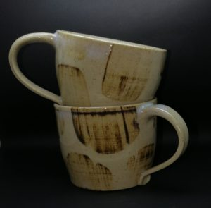 Coffee Cups - Clear & Brushed Ochre