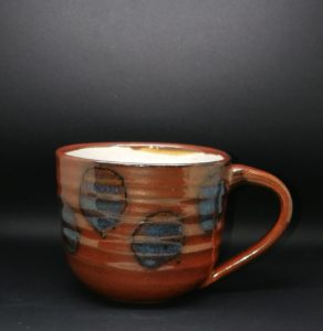Coffee Mug - Lusty Red & Blue Spots
